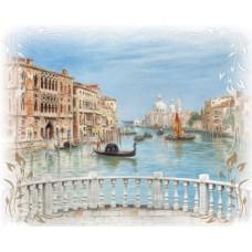 Фотопанно на флизе Венецианский мост