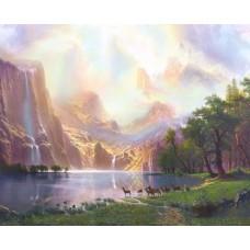 Фотопанно на флизе Волшебное озеро