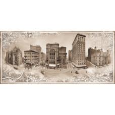 Фотопанно на флизе Городские истории