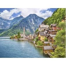 Фотопанно на флизе Альпийское озеро