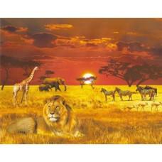 Фотопанно на флизе Африка